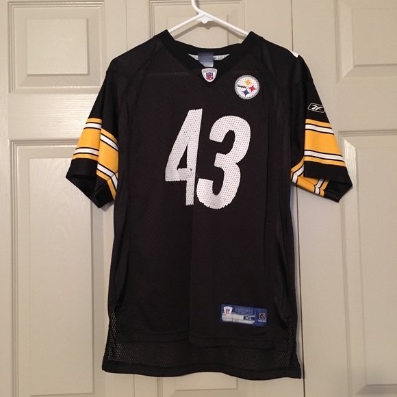 pretty nice 45247 84128 Reebok Pittsburgh Steelers Troy Polamalu Jersey XL